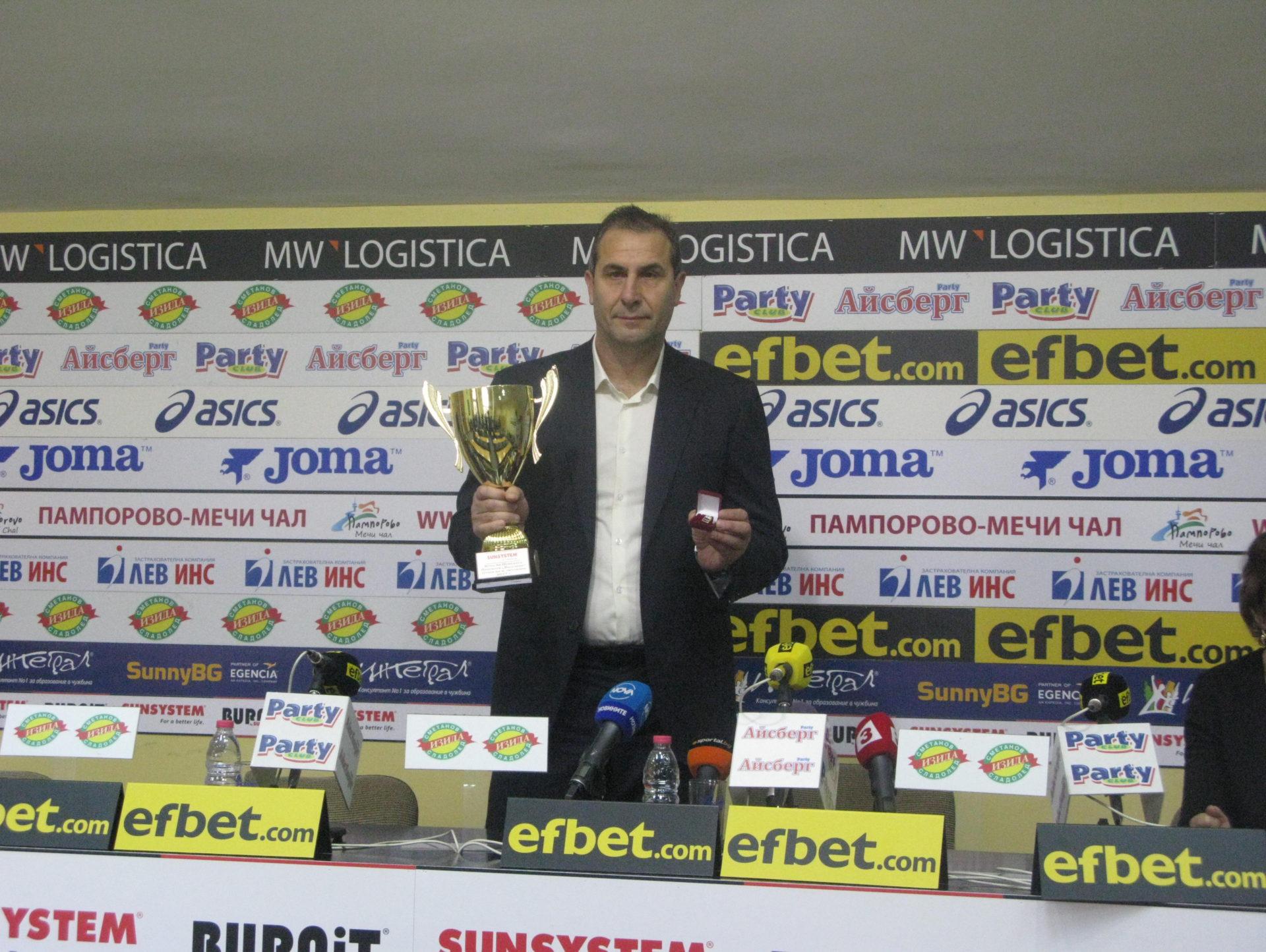 Димитър Димитров: Футболистите на Лудогорец вярват, че могат да направят нещо сериозно срещу  Милан