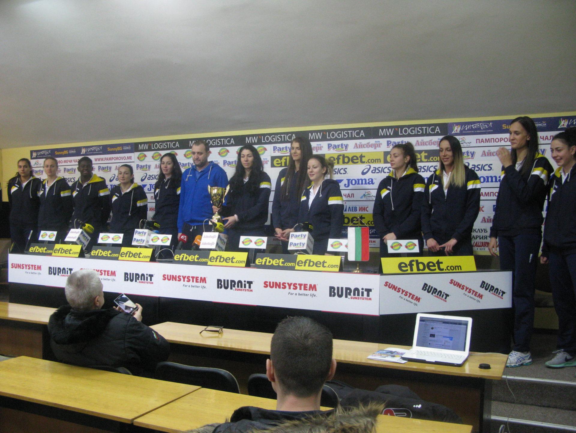 ВК Марица вдигна трета Купа на победата за отбор на месеца