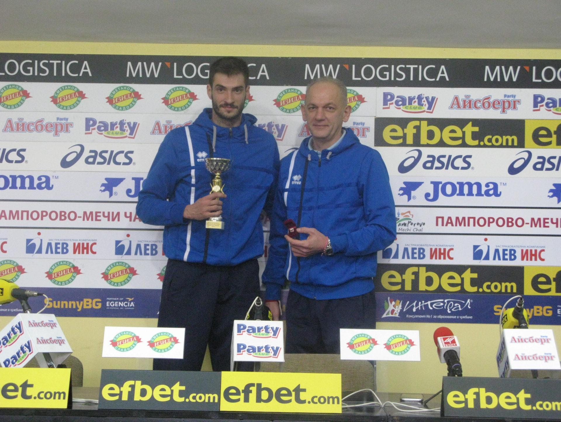 ВК Монтана и Даниел Пеев с наградите за отбор и треньор на месеца