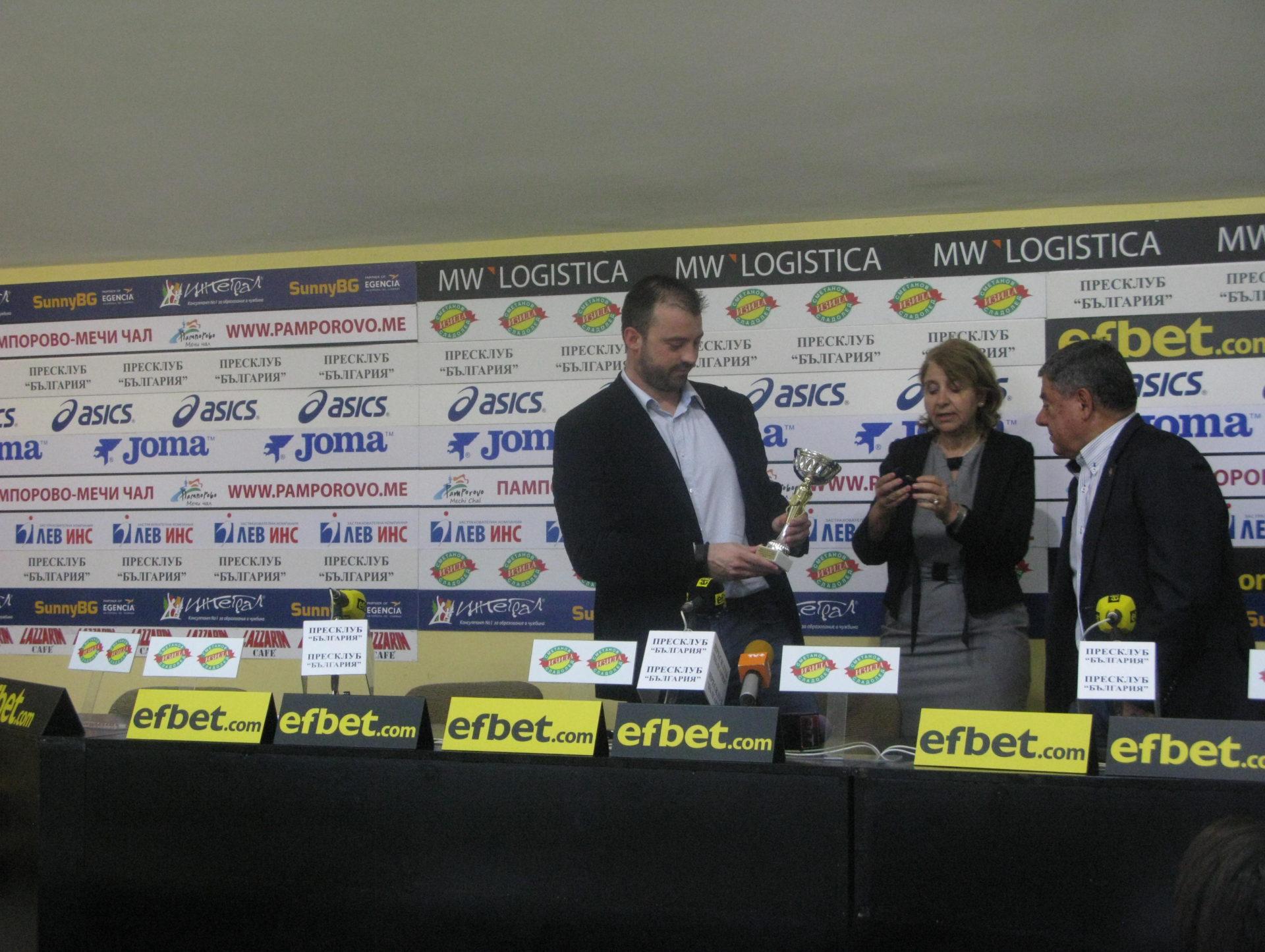След втората Купа на България БК Рилски спортист грабна първи трофей за отбор на месеца