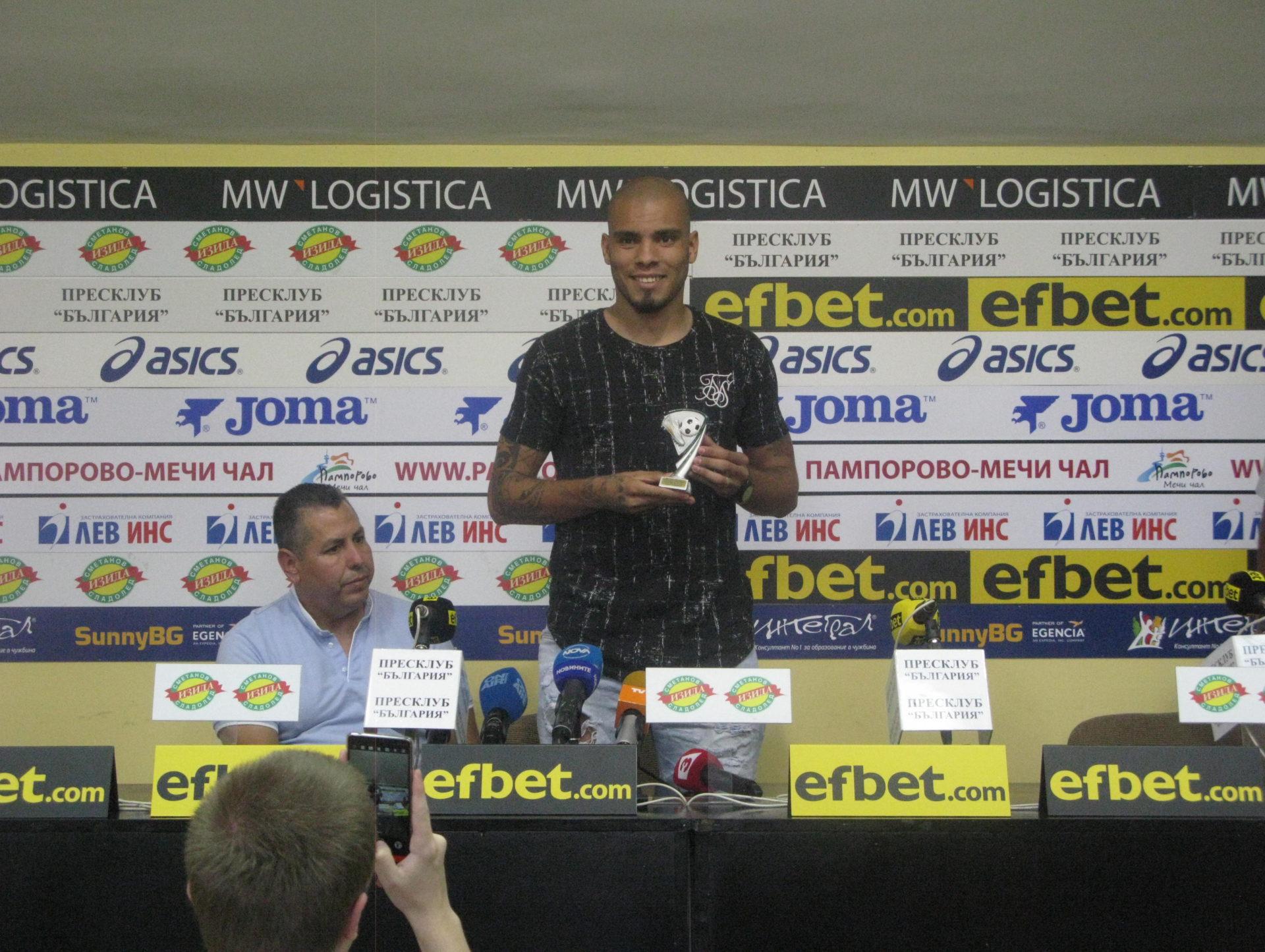 """Мауридес: """"Ако зависи от мен, много често ще идвам тук за да получавам наградата """"Играч на кръга"""""""