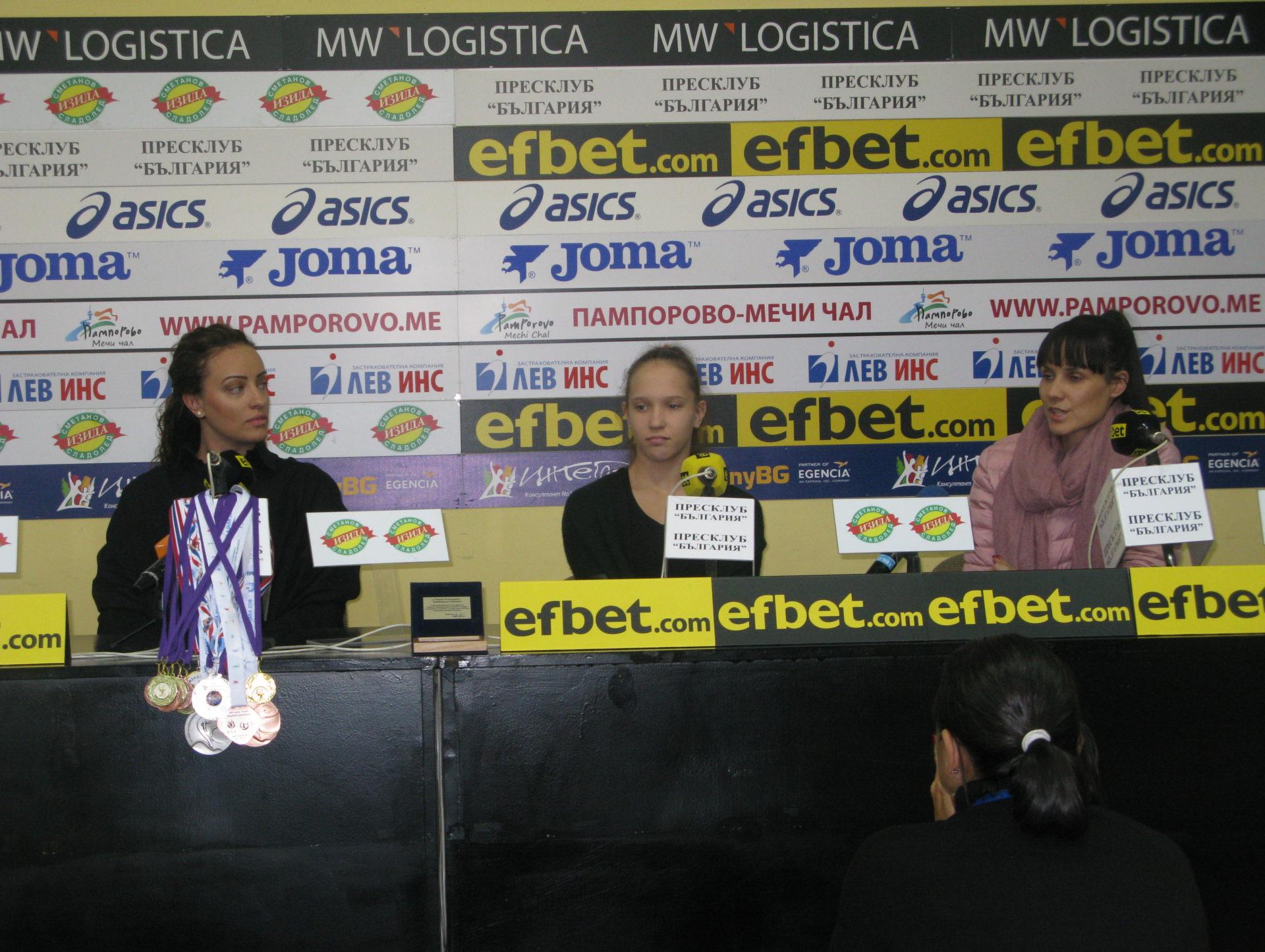 Еврошампионката на обръч за девойки Татяна Воложанина с усложнено съчетание на Олимпийските игри в Буенос Айрес