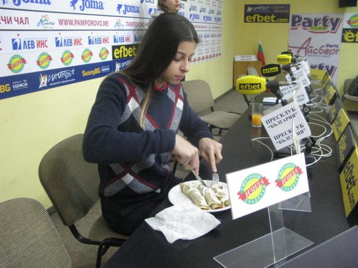 Александра Начева обича да готви на лагери и състезания